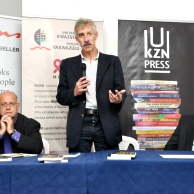 At the launch if African Reponses to HIV/AIDS at Ikes Books on Florida Road, Durban
