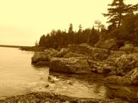On the shore of lake Huron into Ontario