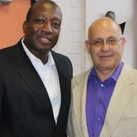 HEARD's New Executive Director, Professor Nana Poku and myself