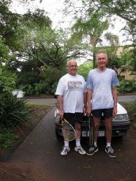 With Jeremy Grest, Durban December 2014 before a game of squash