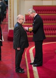 Receiving the honour