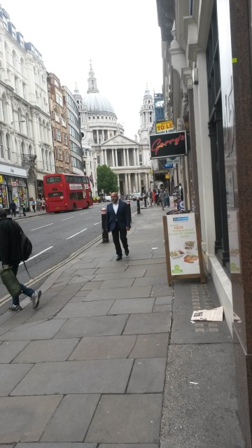 Walking towards St. Paul's and London Street, July 2015
