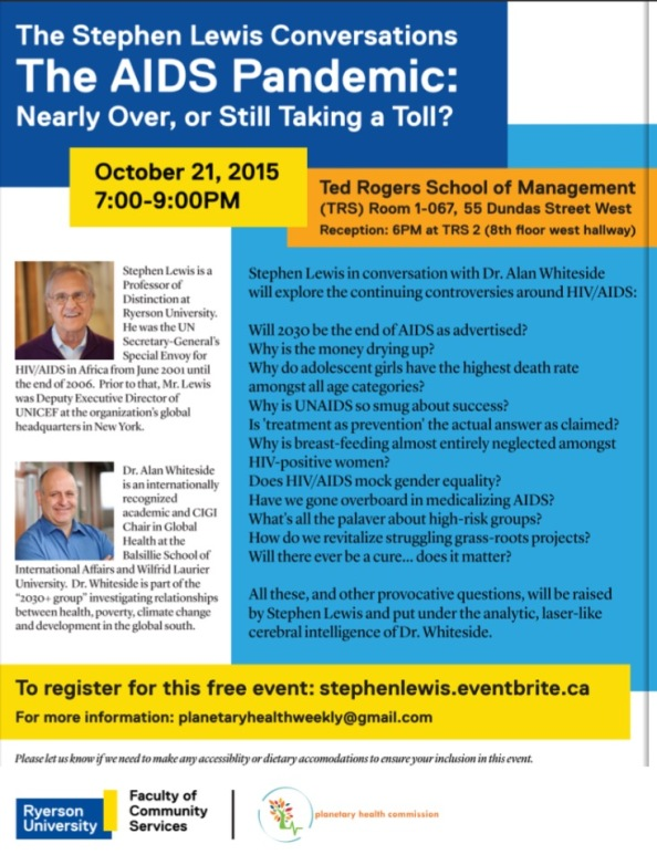 The Stephen Lewis Conversations: The AIDS Pandemic: Nearly Over, or Still Taking a Toll?