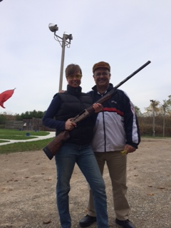 Clay pigeon shooting ('skeet shooting'), October 2015