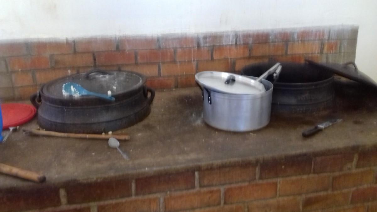 Cooking pots inside
