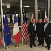 Alan with Mayor Barry Vrbanovic, City of Kitchener, and Mayor Dave Jaworsky, City of Waterloo