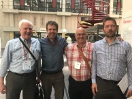 With Economists Mead Over, Erik Lamontagne and Markus Haacker at the International AIDS Economic Network meeting (21st July, 2018)